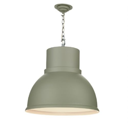 Shoreditch 1 Light Pendant Extra Large Powder Grey (Hand made, 7-10 day Delivery)